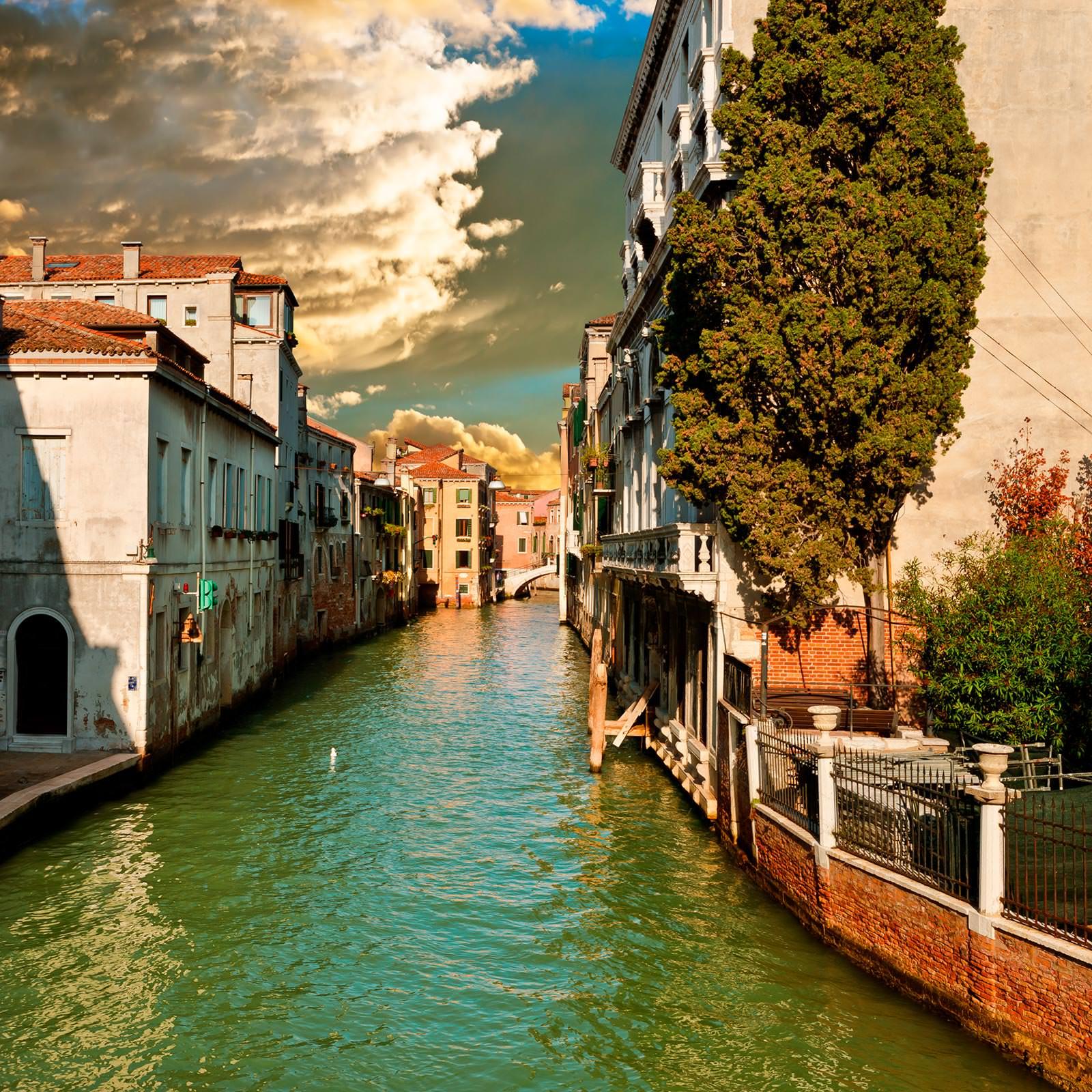 Обои кафе, канал, венеция. Города foto 11