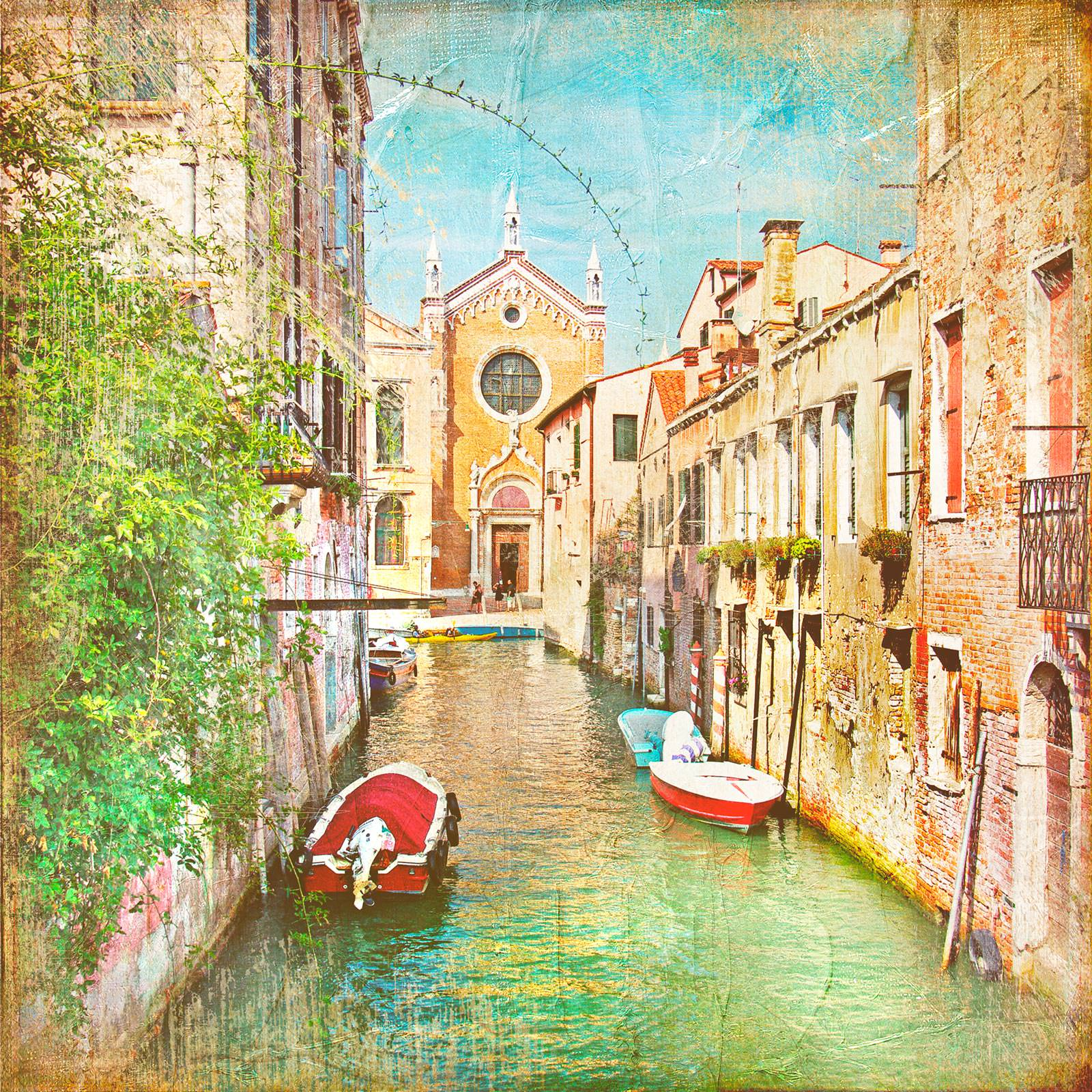 Обои кафе, канал, венеция. Города foto 13