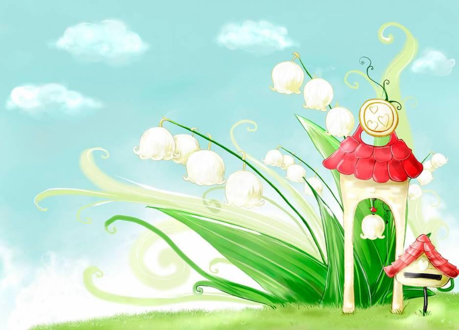 Рисунки с цветами ландыша