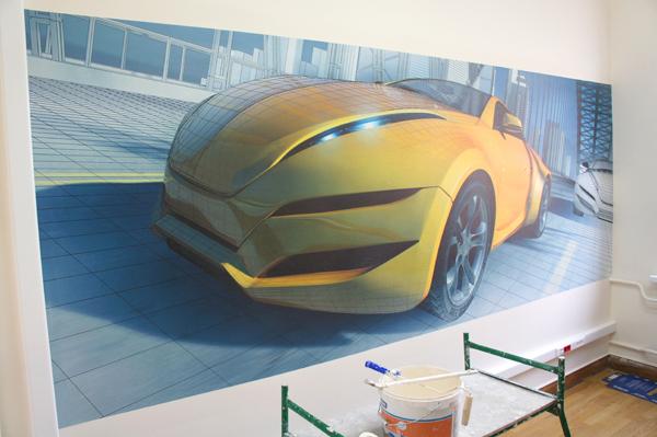 монтаж фресок на стену