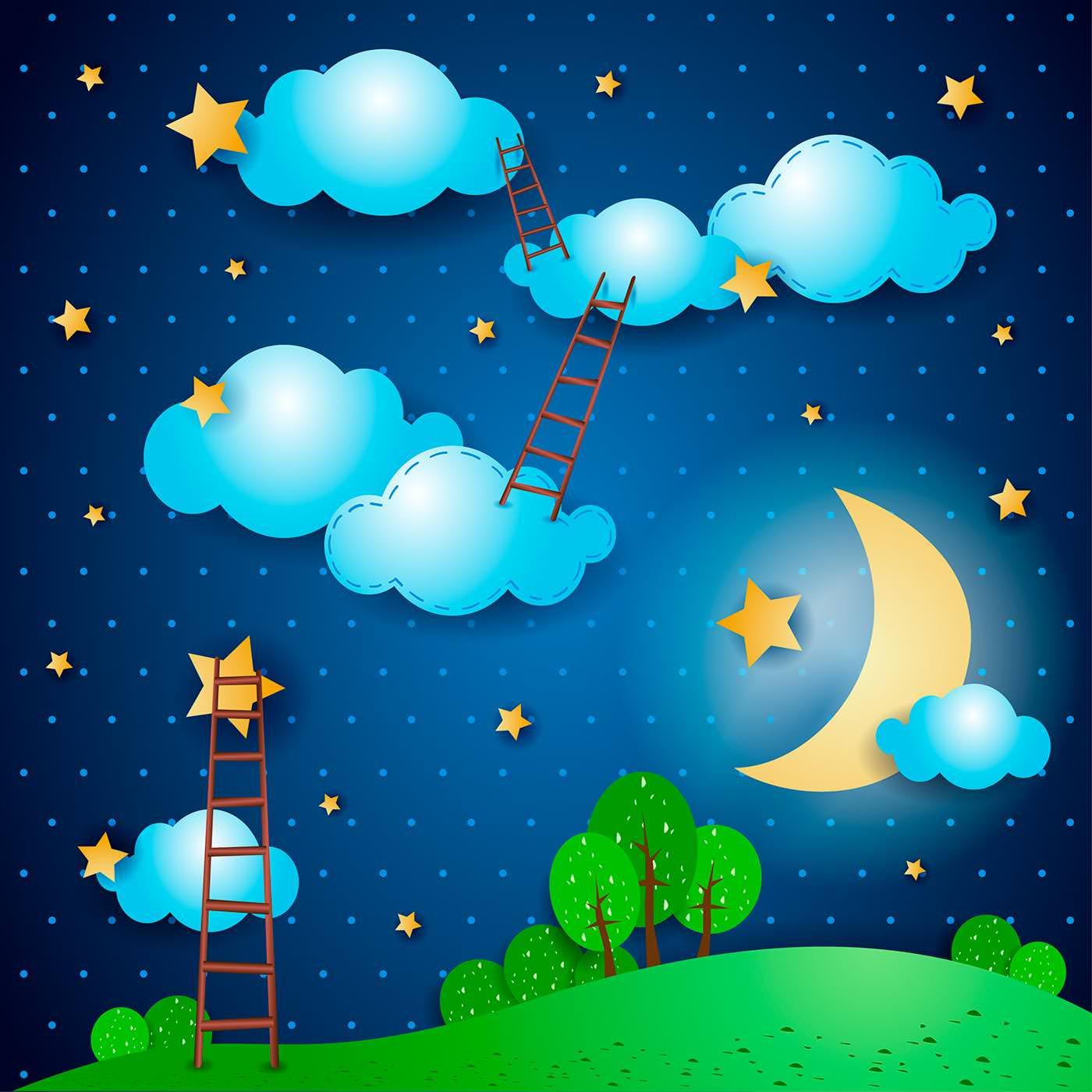 Ночь в картинках для детского сада, поздравления днем рождения