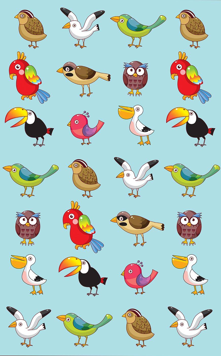 цветные картинки с птичками отделанное натуральным