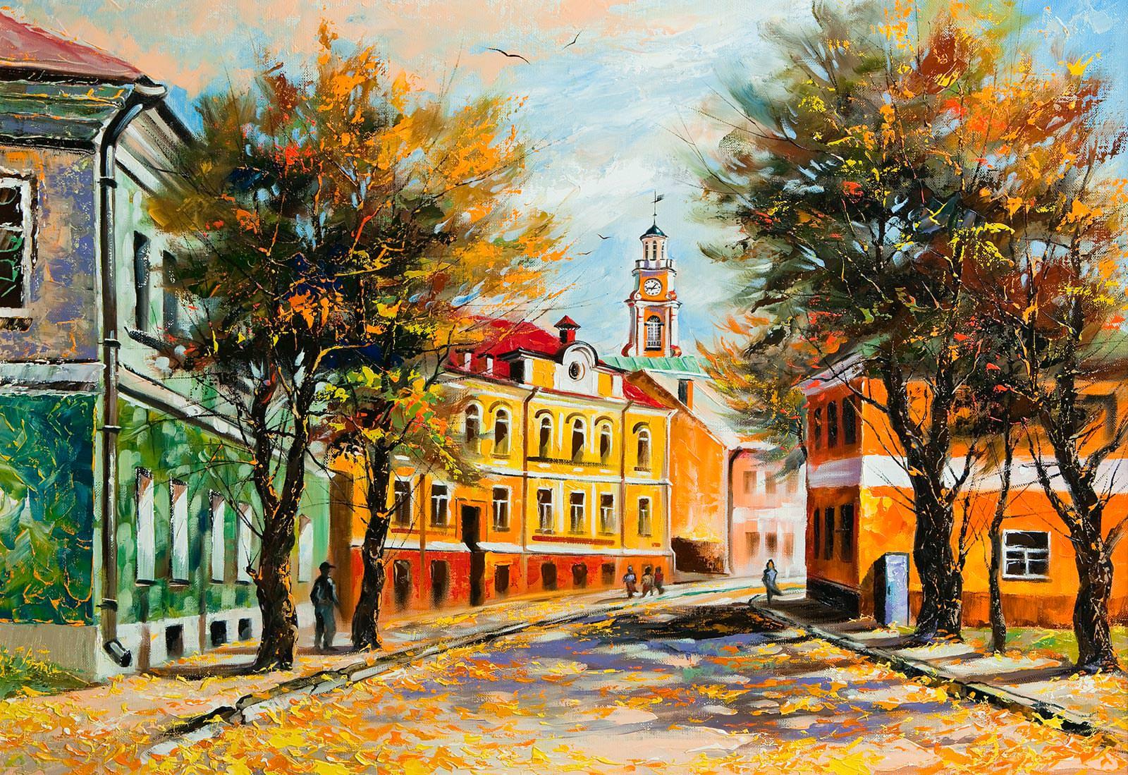 Осень в городе - Фотообои на заказ в интернет магазин arte ...