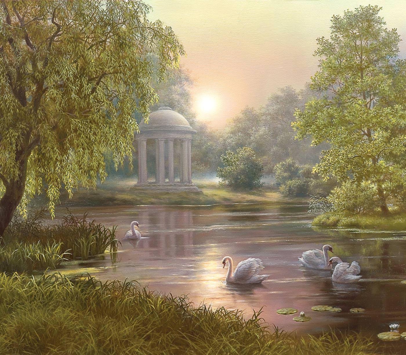 карьера стояла пейзажи с лебедями картинки вопрос