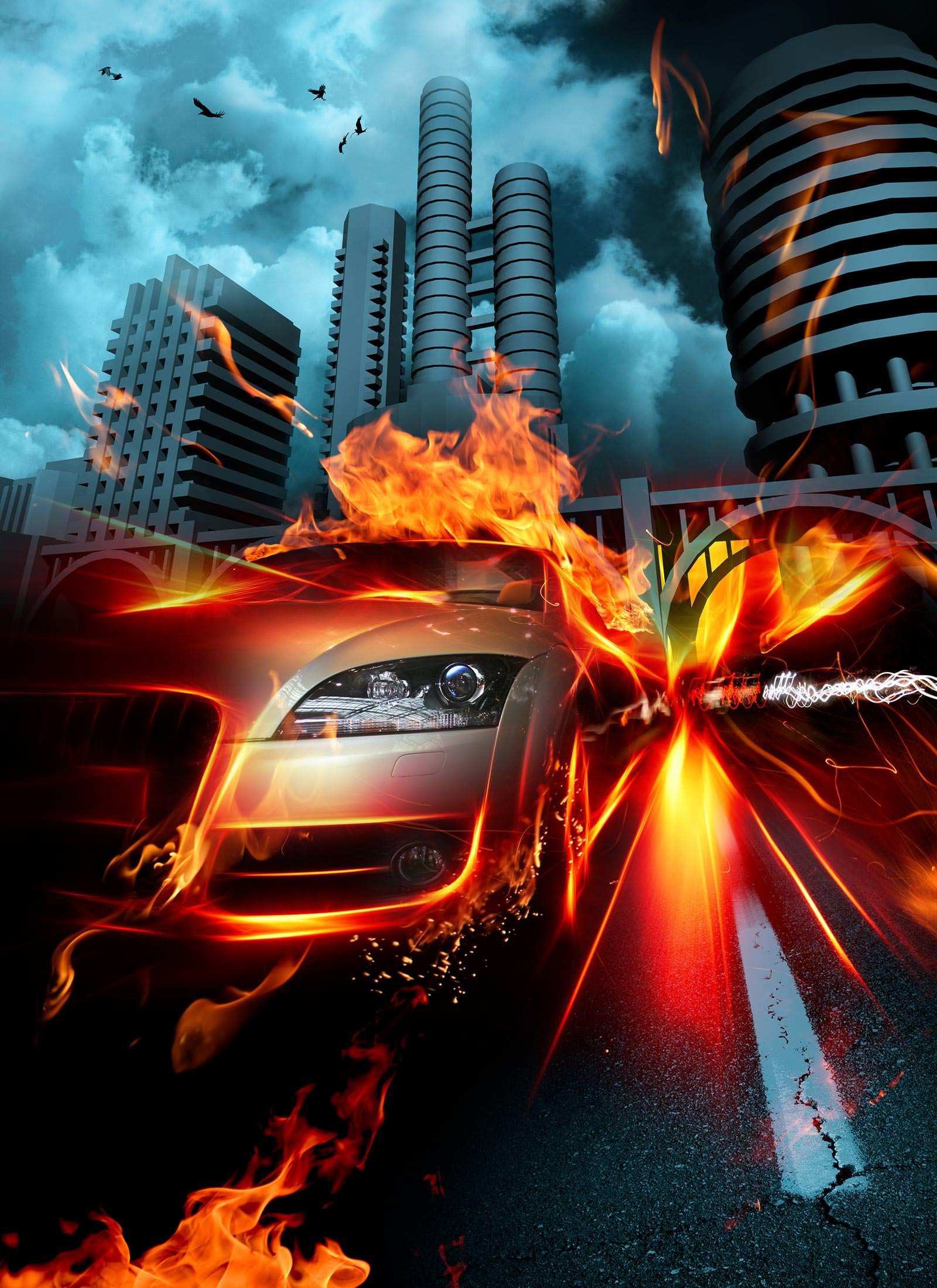 вид картинки машин огнем миги были двухместные