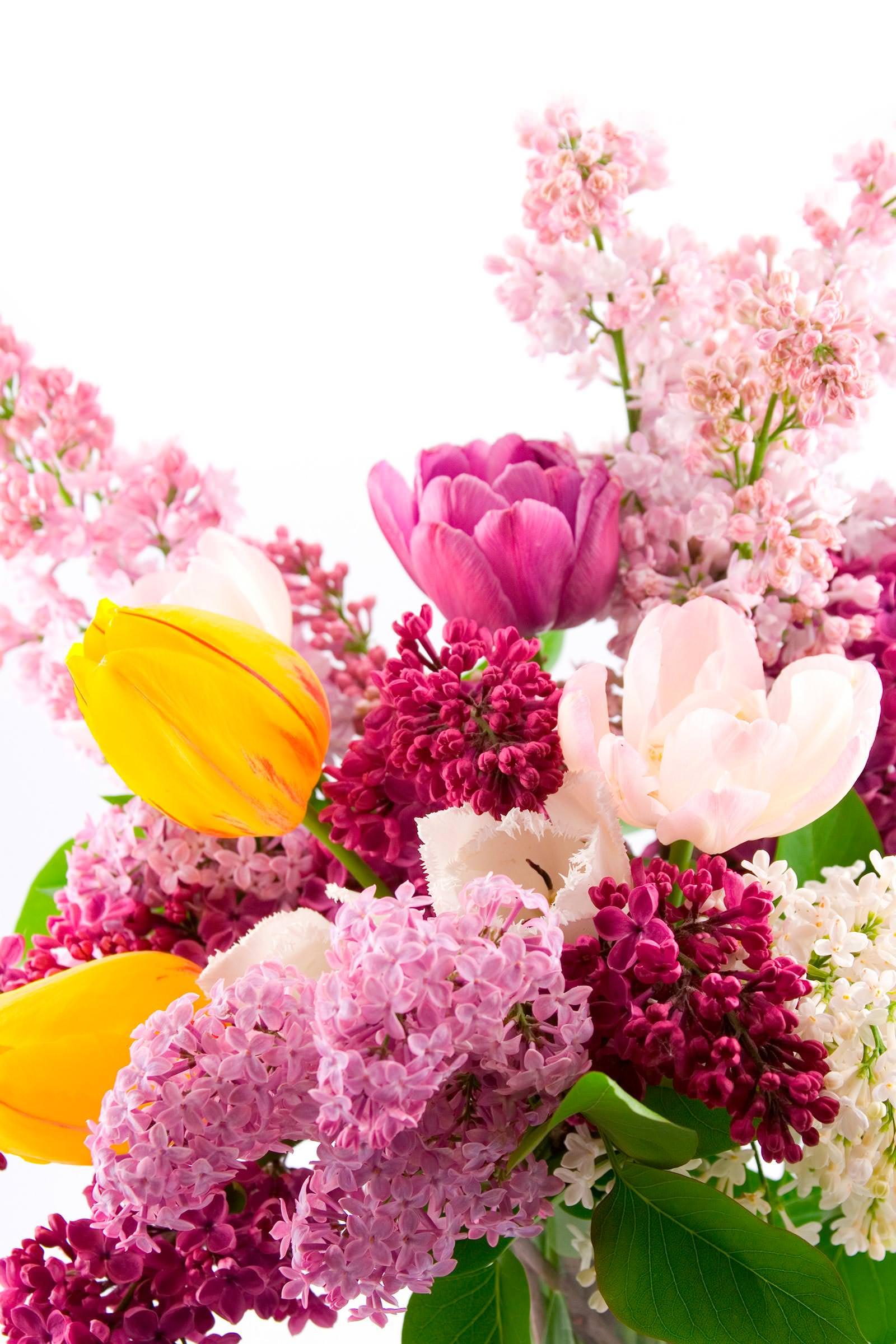 Вертикальная открытка цветы, выходные интересные
