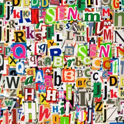Фотообои Буквы | арт.10476