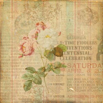 Фотообои Роза на винтажном фоне | арт.10554