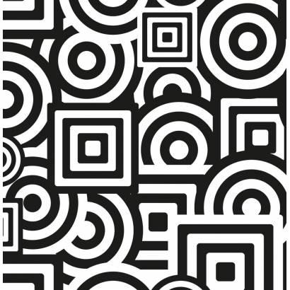 Фотообои Чёрно-белый геометрический фон | арт.10558