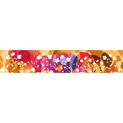 Фотообои Абстрактная панорама с цветами | арт.10560