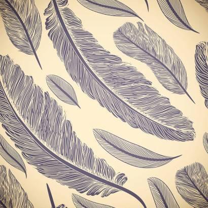 Фотообои Векторный орнамент с перьями | арт.10578