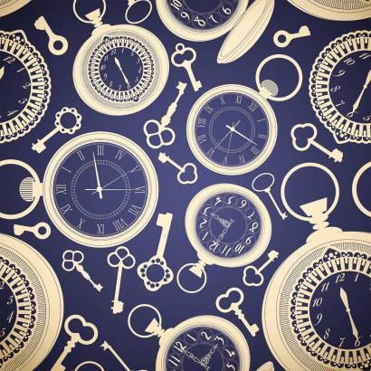 Фотообои Векторный орнамент с часами | арт.10580