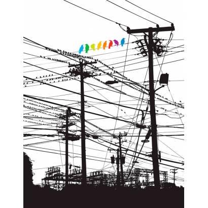 Фотообои Птицы на проводах | арт.10679