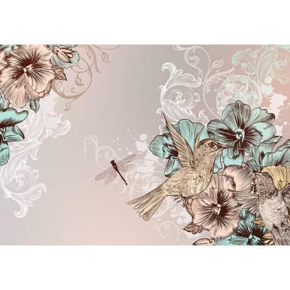 Фотообои Колибри и цветы | арт.10680