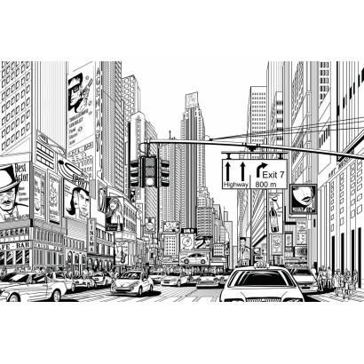Фотообои Улица мегаполиса | арт.1113