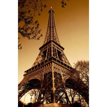 Фотообои Эйфелева башня сепия | арт.11158