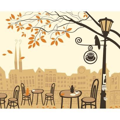 Фотообои Уличное кафе осенью | арт.1116