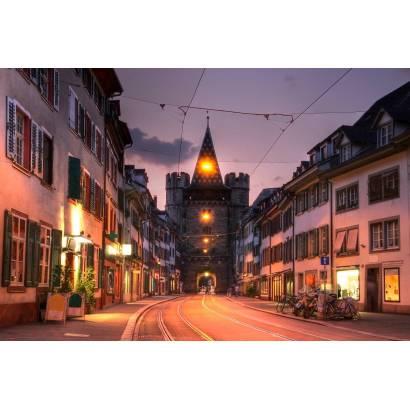 Фотообои Европейская улица ночью | арт.11163