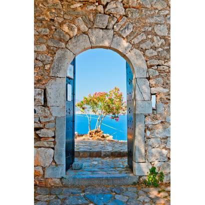 Фотообои Каменная арка с видом на море | арт.11179