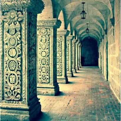 Фотообои Колоннада с рельефом | арт.11257