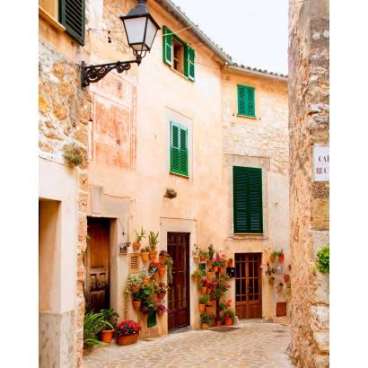 Фотообои Французская улица с цветами | арт.11299