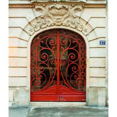 Фотообои Красная кованая дверь | арт.11328