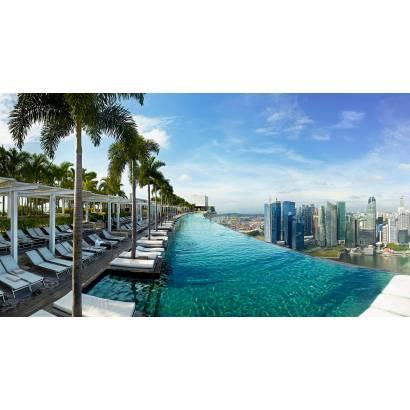 Фотообои Бассейн с видом на мегаполис | арт.11337