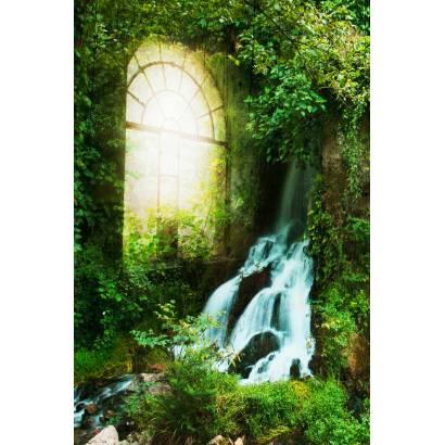 Фотообои Водопад и окно | арт.11345