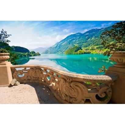 Фотообои Вид с лоджии на озеро | арт.11347
