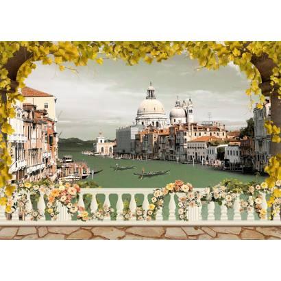 Фотообои Осень в Венеции | арт.11350
