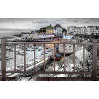 Фотообои Вид на старый город. Коллаж. | арт.11377