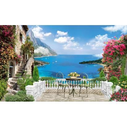 Фотообои Вид с балкона на море | арт.11397