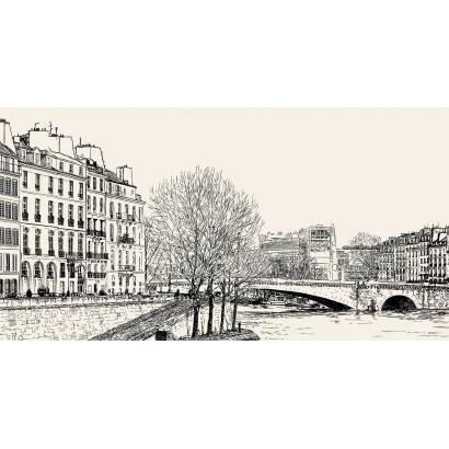 Фотообои Городской пейзаж. Графика | арт.11402
