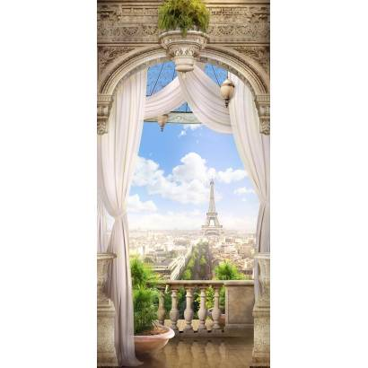 Фотообои Эйфелева башня. Вид с балкона | арт.11410