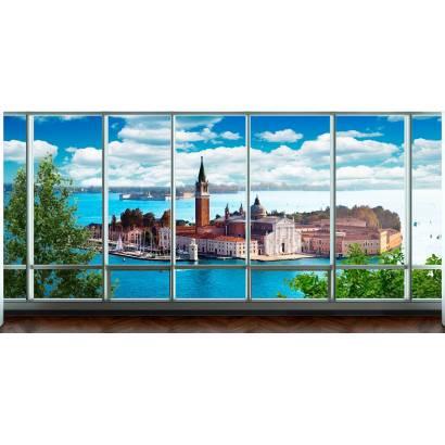 Фотообои Остров. Вид из окна на город | арт.11413