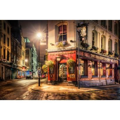 Фотообои Ночная улочка | арт.11418