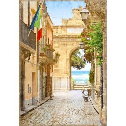 Фотообои Улочка в Италии | арт.11452