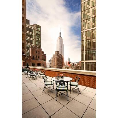 Фотообои Кафе на крыше в Нью-Йорке | арт.11461