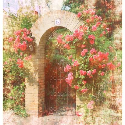 Фотообои Арка в цветах | арт.11472