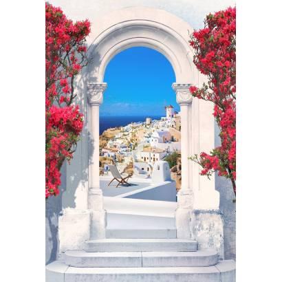 Фотообои Арка на острове Санторини | арт.11489