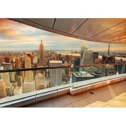 Фотообои Вид с балкона небоскреба | арт.11490