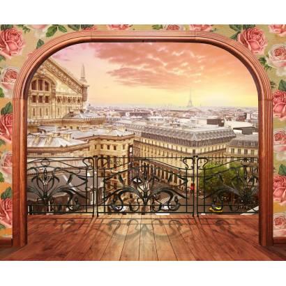 Фотообои Уютный балкон в центре Парижа | арт.11494