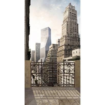Фотообои Балкон над мегаполисом | арт.11508