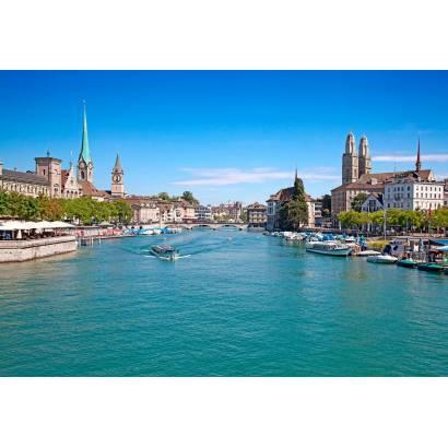 Фотообои Город у воды реки | арт.12299