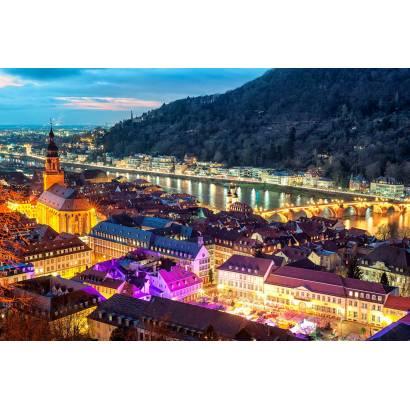 Фотообои Швейцария ночью | арт.12310