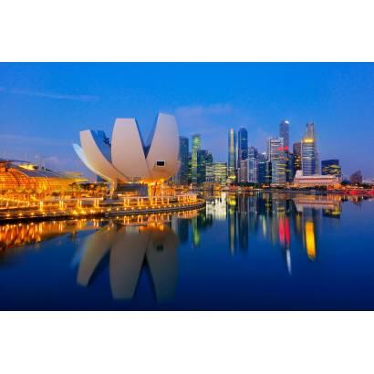 Фотообои Сингапур ночью | арт.12319