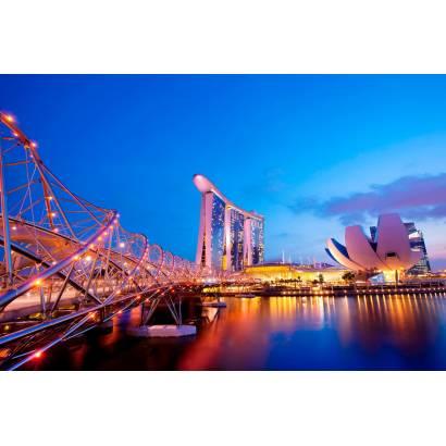 Фотообои Ночной Сингапур | арт.12328