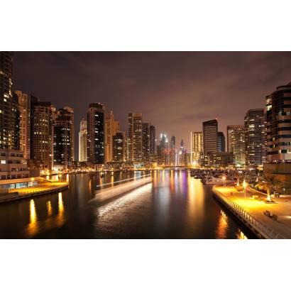 Фотообои Канал в ночном городе | арт.12343