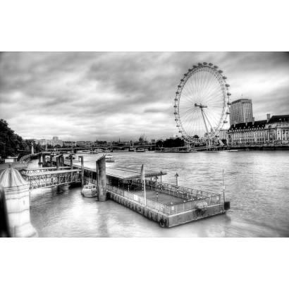 Фотообои Великобритания. Колесо обозрения | арт.12349