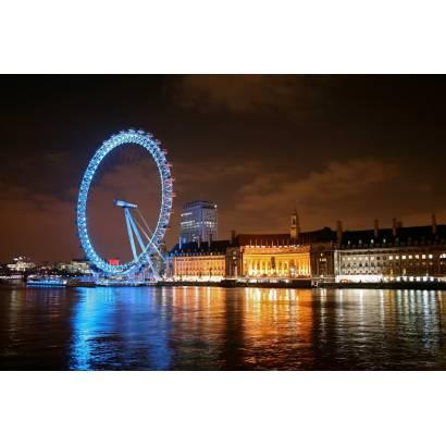 Фотообои Лондон. Колесо обозрения. Ночь | арт.12358